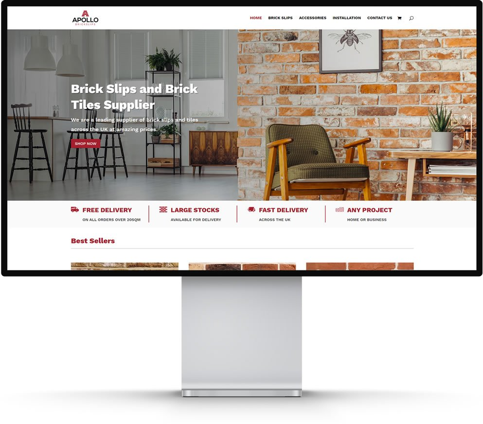 Apollo Brickslips e-Commerce Website Design Maidstone Kent