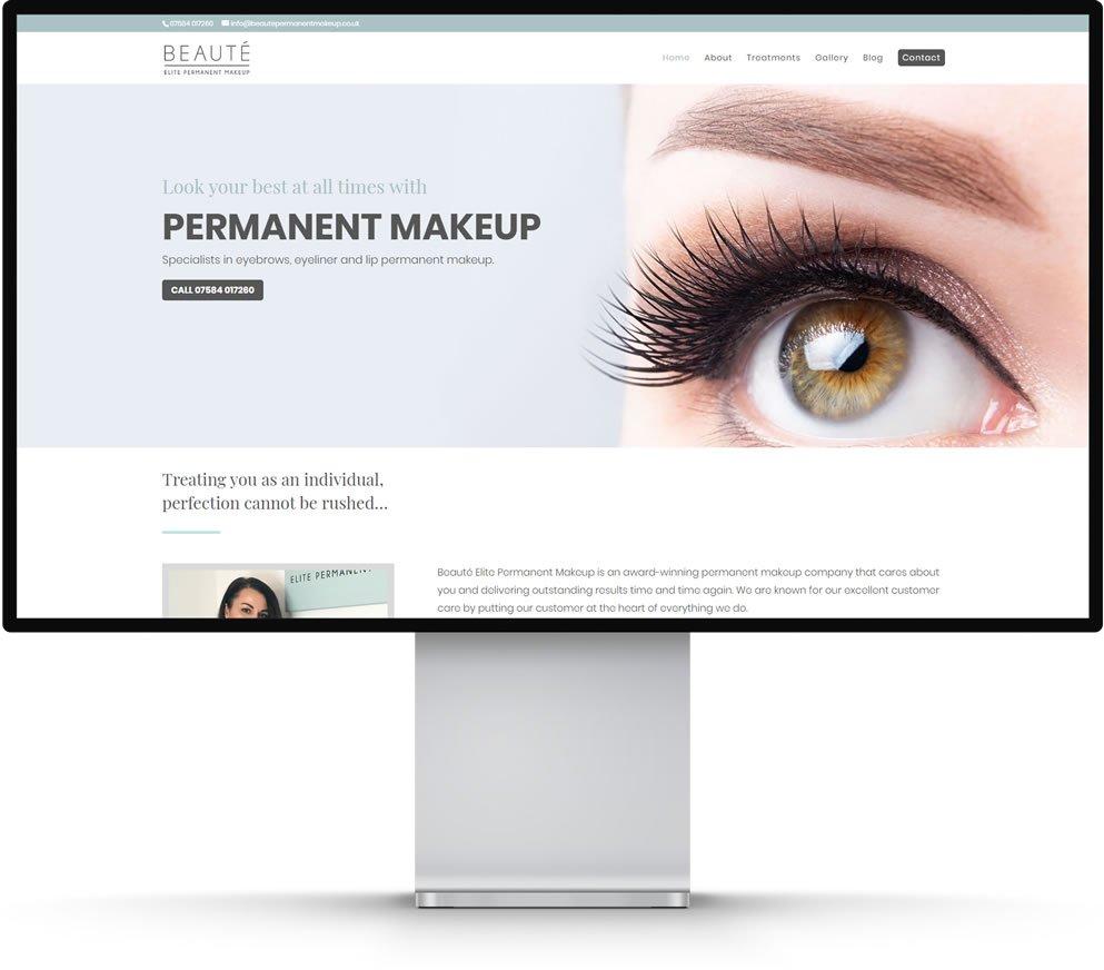 Beaute Elite Permanent Makeup Website Design Chatham Kent