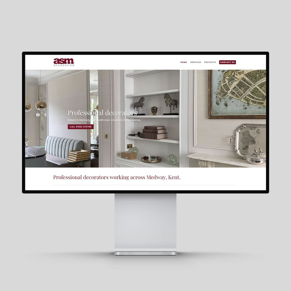 ASM Decorating Website Design Rochester Medway Kent