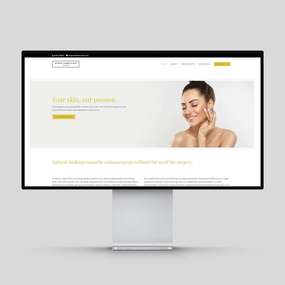 Mi Skin Laser Clinic Website Design Rochester Medway Kent