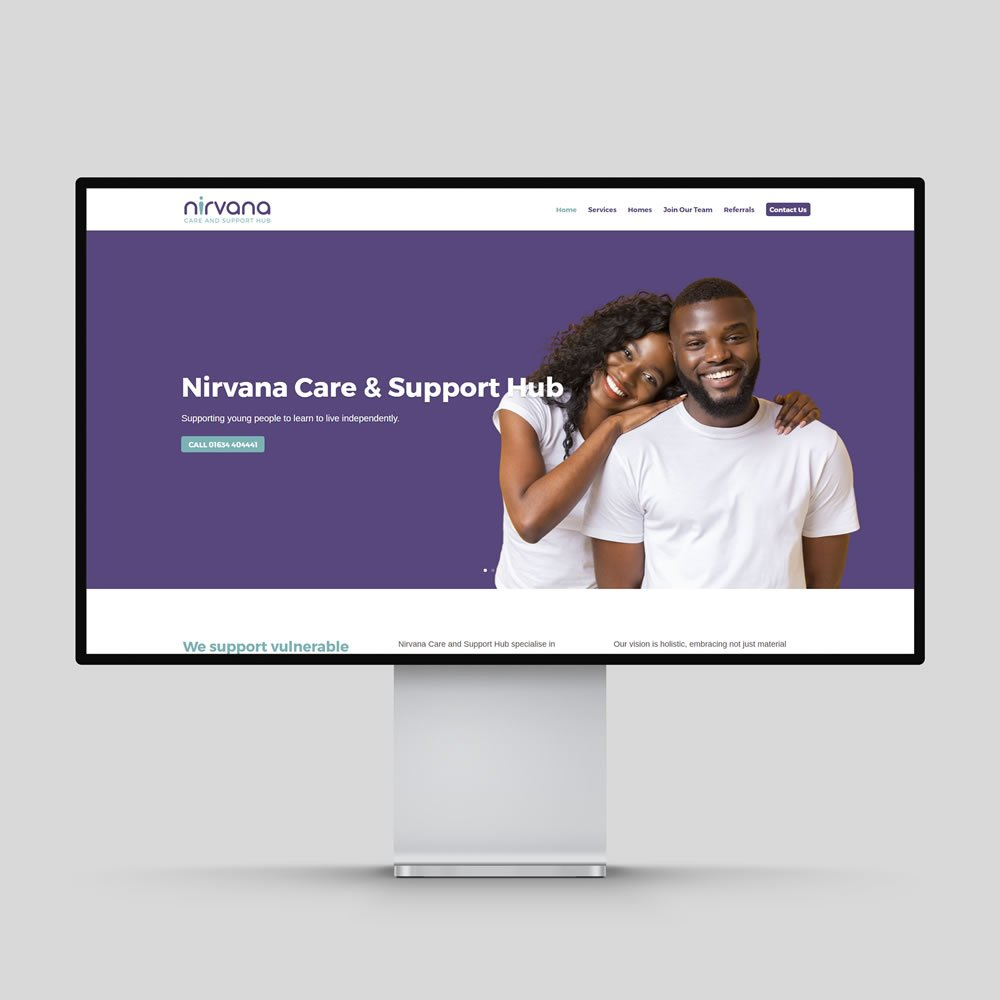 Nirvana Care and Support Hub Website Design Rochester Medway Kent