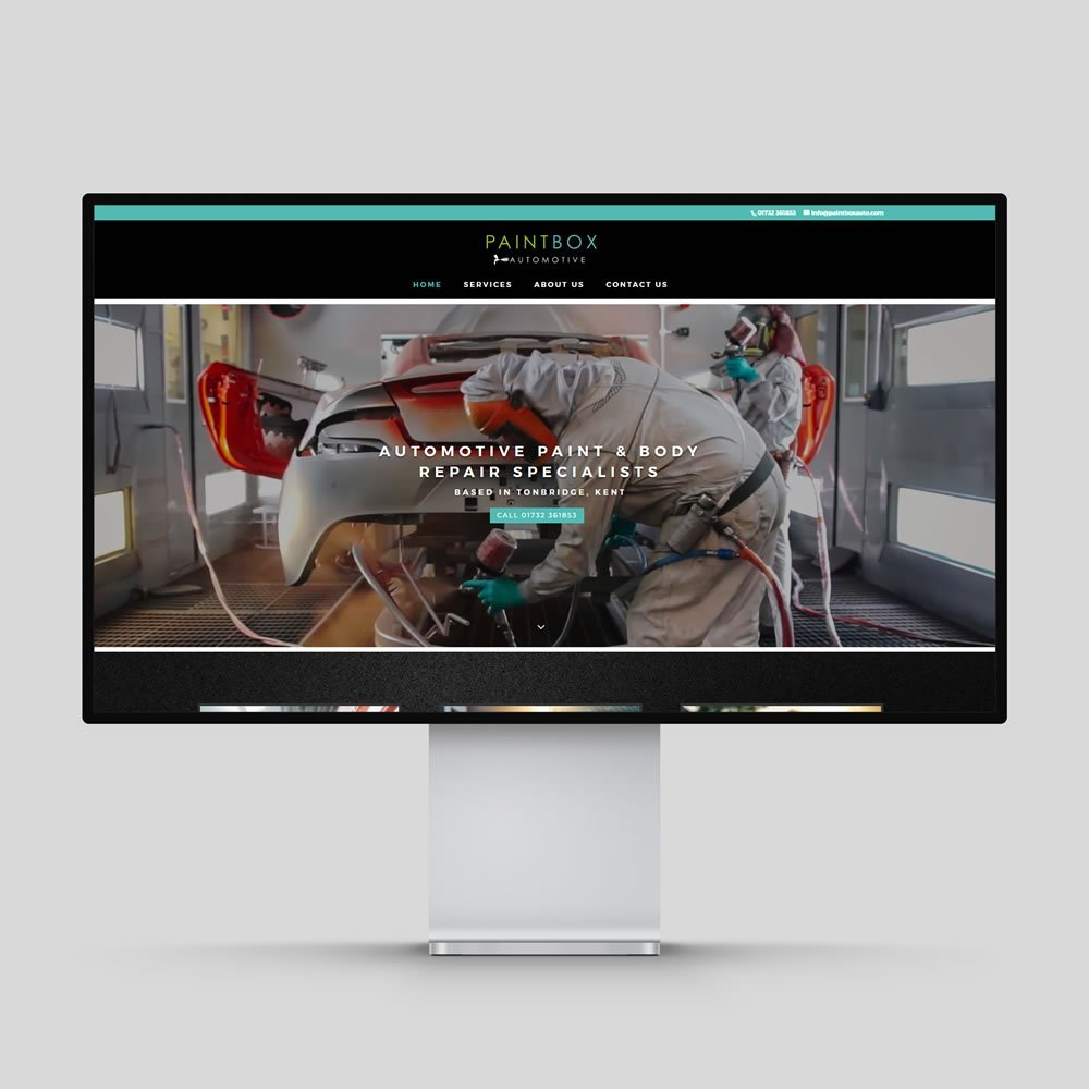 Paintbox Automotive Website Design Rochester Medway Kent