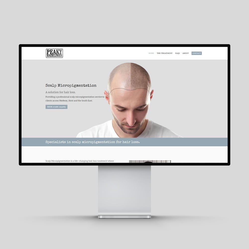 Peaky Hairlines Website Design Rochester Medway Kent