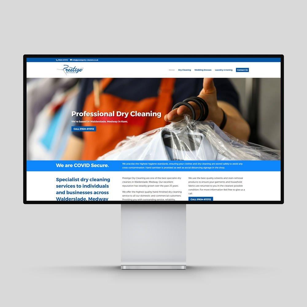 Prestige Dry Cleaners Website Design Rochester Medway Kent