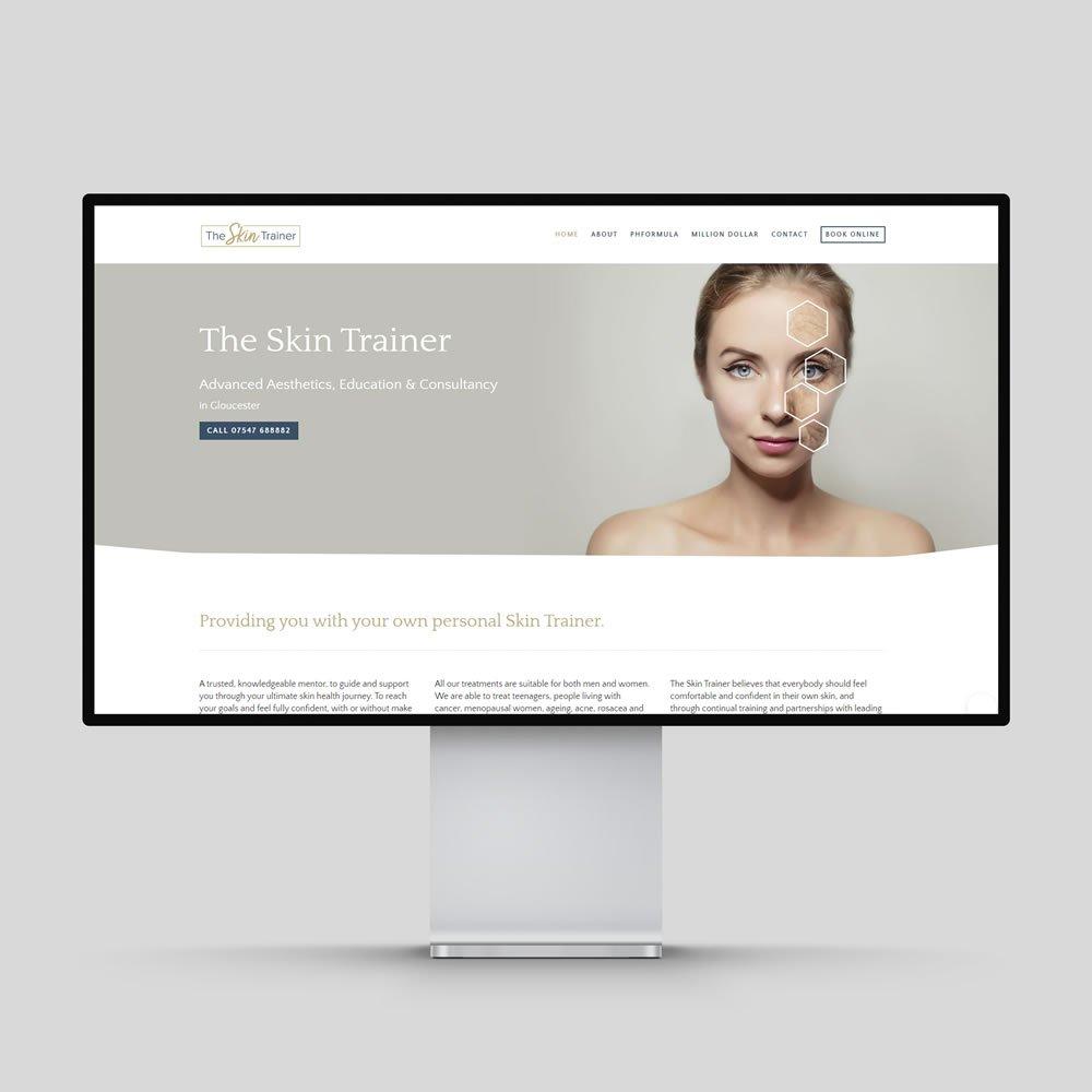 The Skin Trainer Website Design Rochester Medway Kent