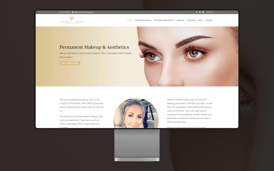 Samantha Thomas Website Design